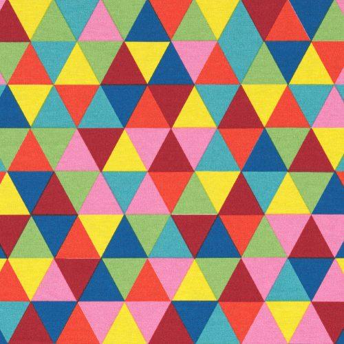 Háromszögek - élénk színes vastagabb textil