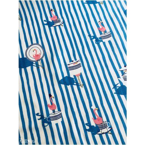 Flamingos on stripes