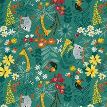 Animals on green