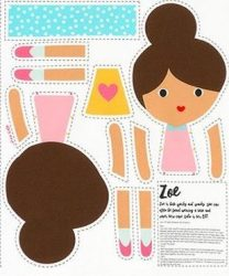 Girl Friends Doll Panel Zoe