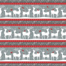 Alpine Reindeer Stripe Grey