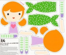 Girl Friends Doll Panel Kat