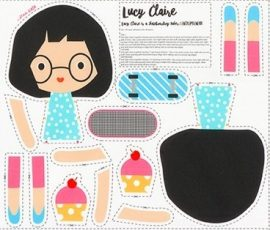 Girl Friends Doll Panel Lucy Claire