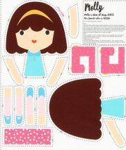 Girl Friends Doll Panel Molly