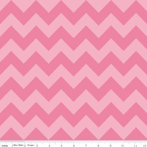 Medium Chevron Tone on Tone Hot Pink