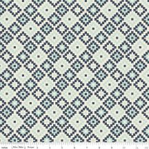Woodland Spring Geometric Navy