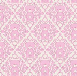 Teddy Bear Picnic Damask Pink