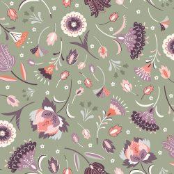 Elinor Moss Floral Grey