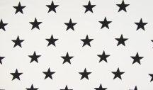Fehér alapon nagy csillagok - puplin
