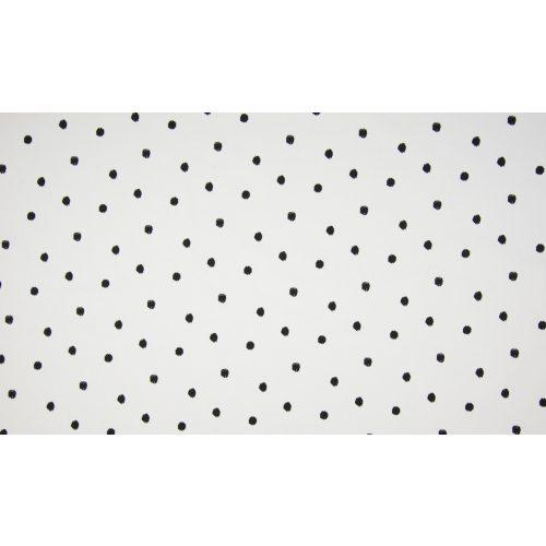 Fehér alapon fekete pöttyök