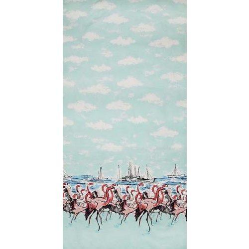 Flamingo border Seafoam