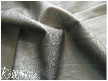 Metálfényes vékony textilbőr - szürke