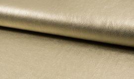 Metálfényes arany színű textilbőr - kígyóbőr mintás