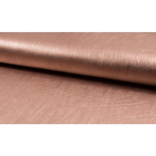 Metálfényes lazac textilbőr - kígyóbőr mintás