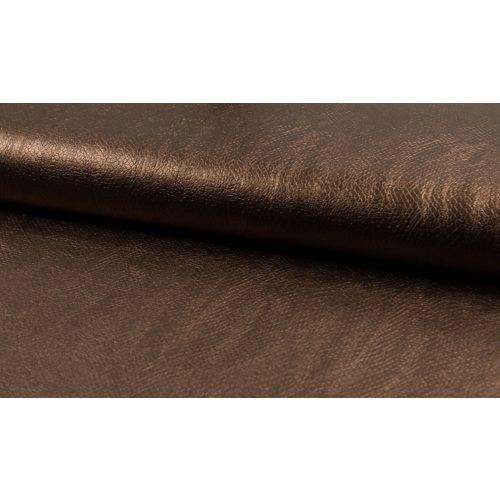 Metálfényes bronz textilbőr - kígyóbőr mintás