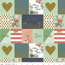 On Trend Notecards Coral In Sparkle Cotton