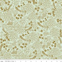 On Trend Floral Mint in Sparkle