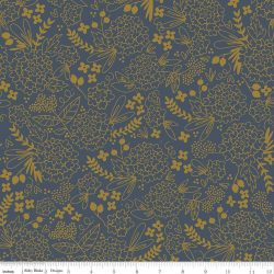 On Trend Floral Navy in Sparkle