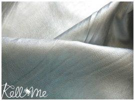 Metálfényes vékony textilbőr - ezüst