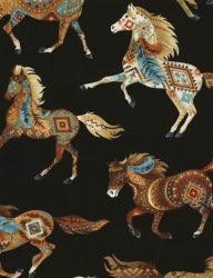 Southwest Horses Black