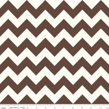 Medium Chevron On Cream brown