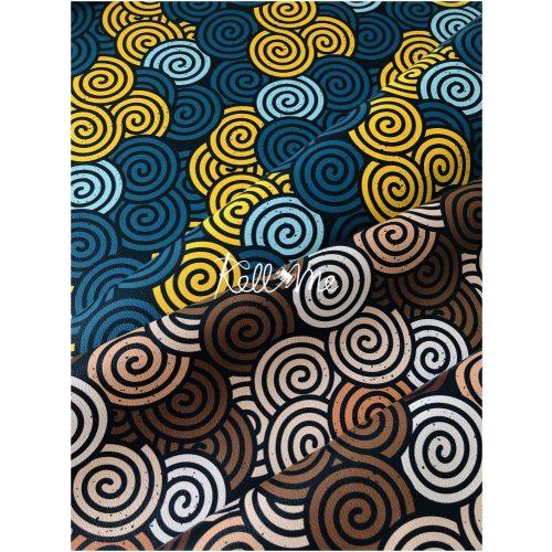 Textilbőr - Csiga mintás
