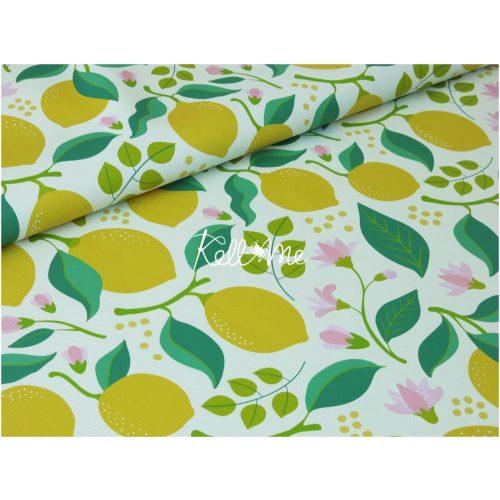 Textilbőr - Lemons on cream