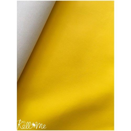 Textilbőr - citromsárga - Készlet erejéig!!