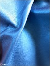 Textilbőr - metál királykék