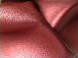Textilbőr - metál korall piros