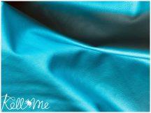 Textilbőr - metál türkiz