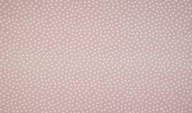 Babarózsaszín alapon apró fehér háromszögek