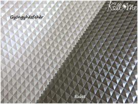 Textilbőr - Piramis gyöngyházfehér