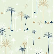 Ocean Drive Metallic Palm Trees