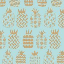 Ocean Drive Metallic Pineapples Blue
