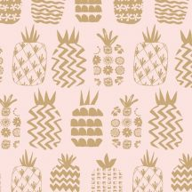 Ocean Drive Metallic Pineapples Pink