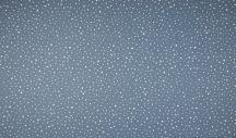 Organikus pamut - Kék alapon fehér pöttyök