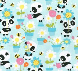 Pandas Garden Party aqua