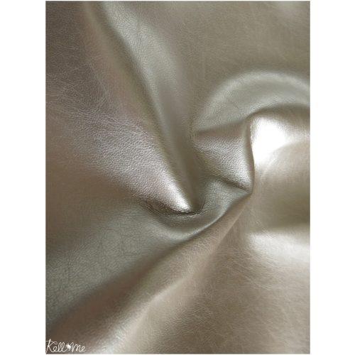 Textilbőr - gyöngyház ezüst