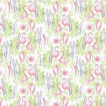 Pink Paradise Flamingo Love
