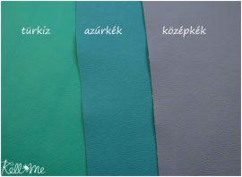 Textilbőr - azúrkék, 145 cm széles