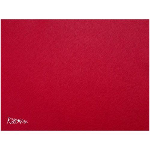 Textilbőr - élénk piros